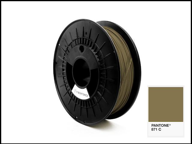 FiberForce Pantone (R) 871 C PLA Filament - 1.75mm (0.75kg)