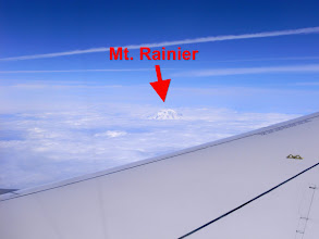 Photo: Mt Rainier from the Plane