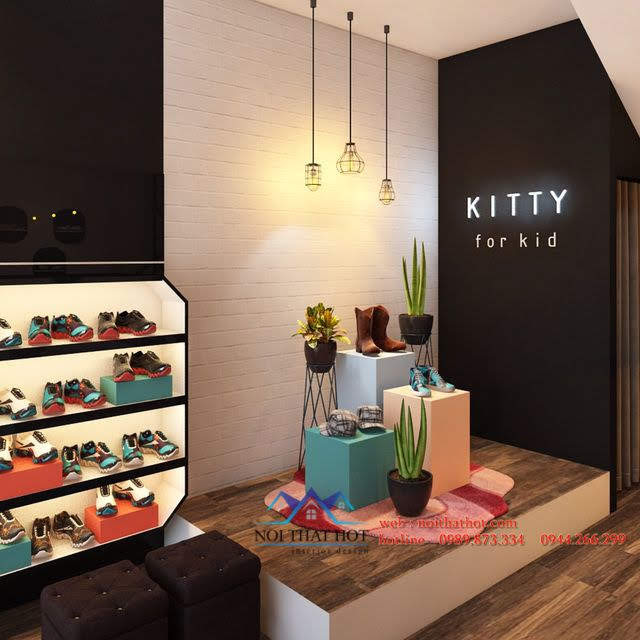 thiết kế shop thời trang trẻ em kitty 5