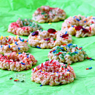 Christmas Krispie Wreaths.