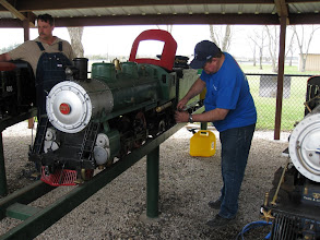 Photo: Pete Green getting ready to steam up