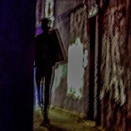 Shadowy Figure by Richard Michael Lingo - Digital Art People ( shadow, silhouette, man, people, digital art )