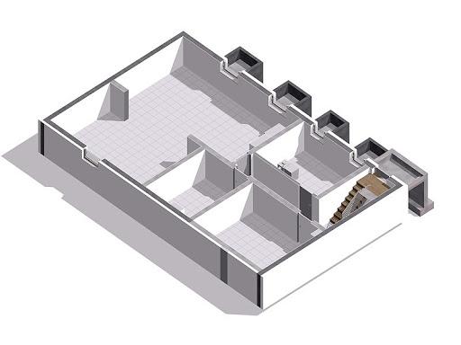 Aksamit 7 - Rzut piwnicy 3D