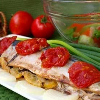 Baked Mackerel with Tomato in Foil