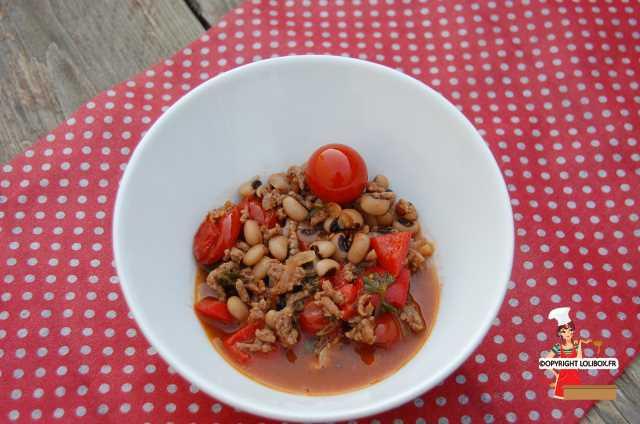 Balck-Eyed Pea and Ground Beef Chili