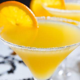 Elderflower and Orange Cocktail.