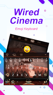 Wired Cinema Theme&Emoji Keyboard - náhled