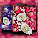 Photo On Petals Live Wallpaper icon