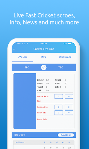 CricZoo - Fastest Cricket Live Line Score & News 1.2.3.2.1 screenshots 2