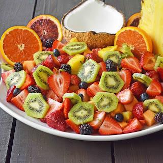 Summer Fruit Salad with Honey Lime Dressing Recipe