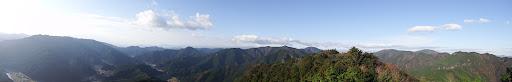 岩からの展望パノラマ