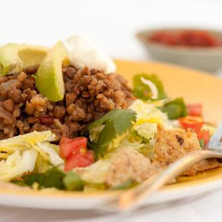 Slow Cooker Lentil Taco Salad.