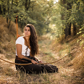 archery by Viktor Moravčík - People Portraits of Women ( model, archery, outdoor, czech, portrait )