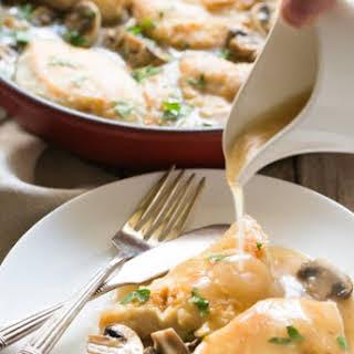 Gluten Free Chicken Marsala.
