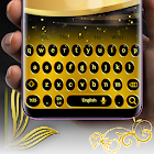 Luxury Black and gold keyboard theme 2018 icon