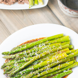 Roasted Asparagus with Balsamic Soy Dressing