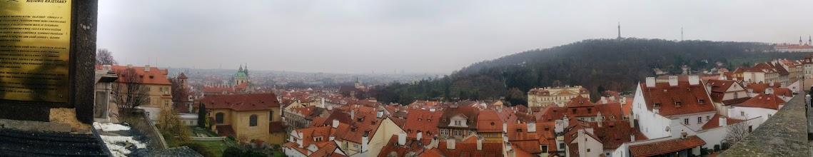 Photo: Prague from the castle hill