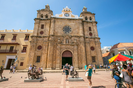 Cathedral-in-Cartagena-1.jpg - Iglesia de San Pedro Claver church in the Plaza de San Pedro Claver neighborhood.