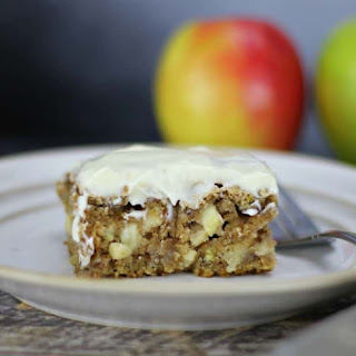 German Spiced Apple Cake with Cream Cheese Frosting.