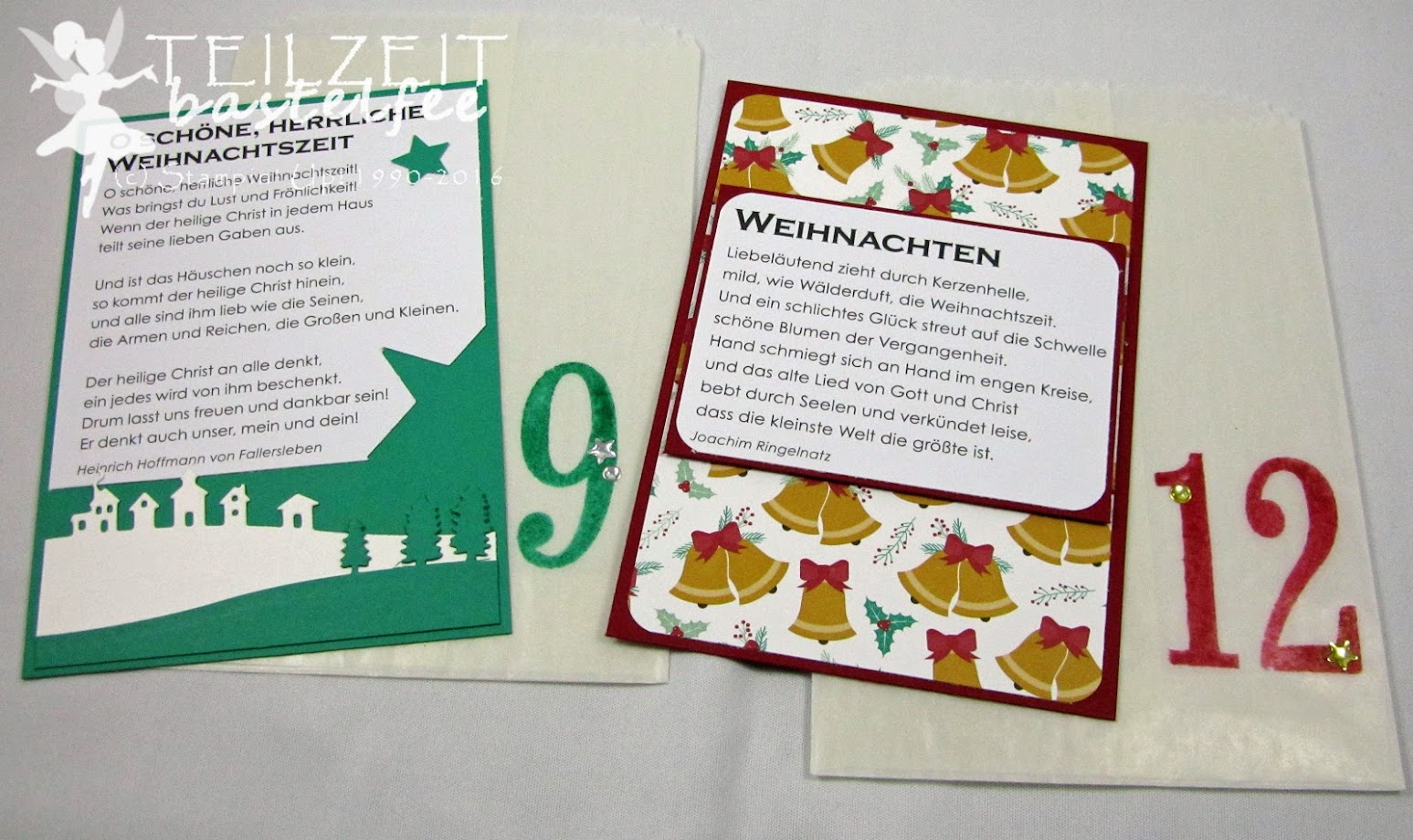 Stampin' Up! – December Inkspirations, Weihnachten, Christmas, Adventskalender, Advent Calendar, Pergamin-Geschenktüten, Glassine Gift Bags, Number of Years, So viele Jahre, Lack-Akzente Metallic, Metallic Enamel Shapes, Ausgestochen weihnachtlich, Cookie Cutters, Gorgeous Grunge, Star Framelits,