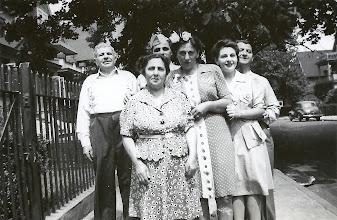 Photo: (L-R) Bernard, Martha and leo Sternbach, Frieda Braunhart Brunn, Regina Sternbach, and salo Brunn