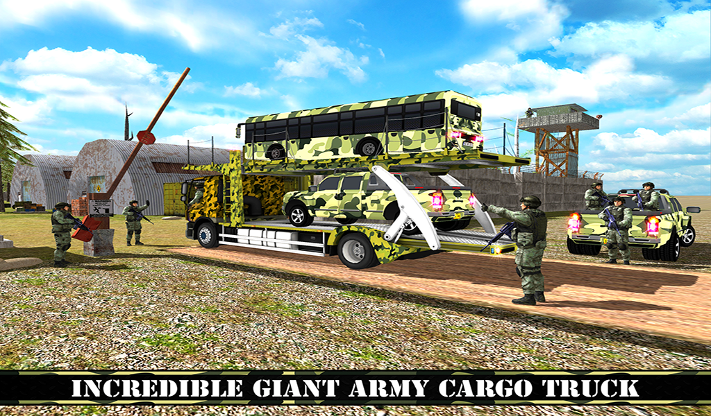 OffRoad US Army Transport Truck Simulator 2017- screenshot