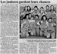 Photo: 19-02-97 Les juniors filles -18 toujours en lice en championnat de France