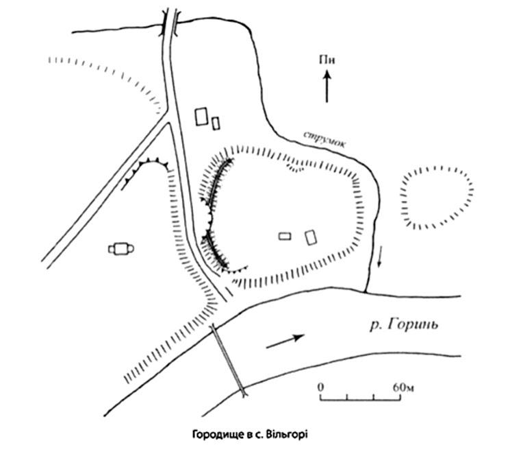 план Вільгірське городище