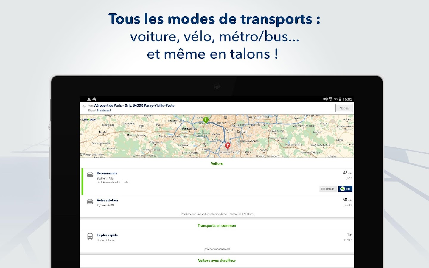 Mappy- Itinéraire & Vie locale- screenshot