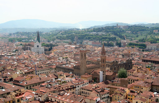 florence-cityscape2.jpg - A look at the red-tiled cityscape of Florence, Italy.