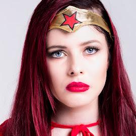 Wonder Woman by Mel Stratton - People Portraits of Women ( woman, hero, wonder, girl, female,  )