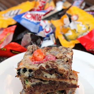LEFTOVER HALLOWEEN CANDY LAYER BARS