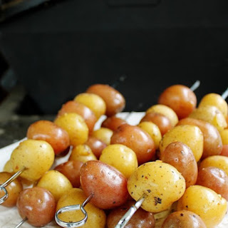 Barbecued New Potato Skewers Recipe