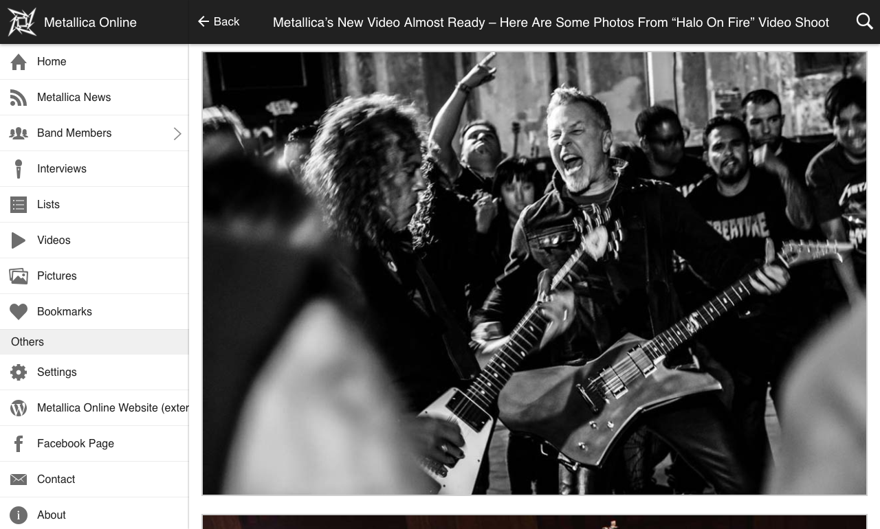 Metallica Online- screenshot