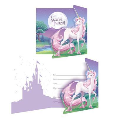 Discount Party Supplies Unicorn Fantasy - 8 Pk Invitations