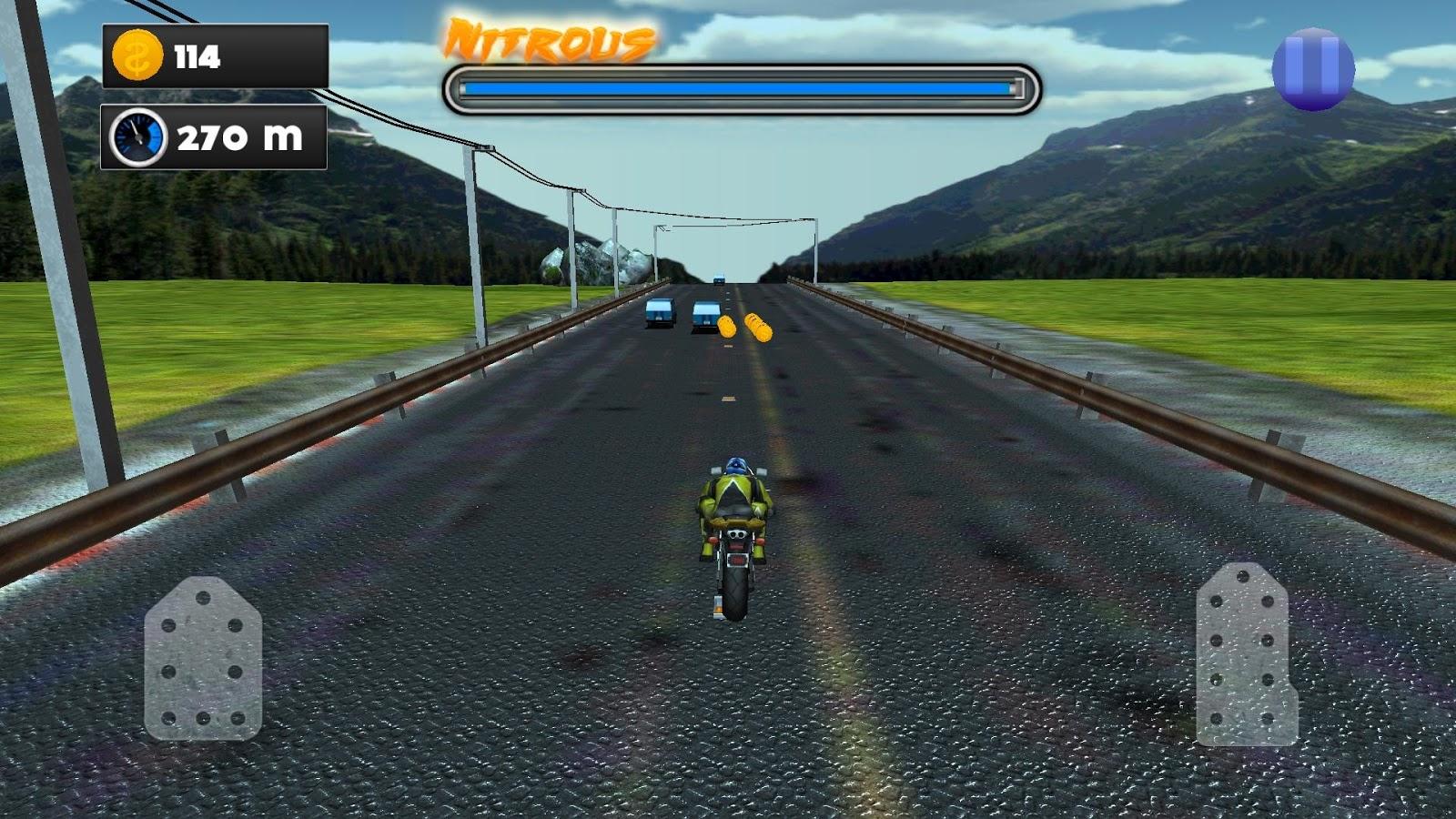 Bikes Racing On Highway Modern Highway Bike Racing