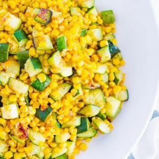 Sauted Corn and Zucchini.