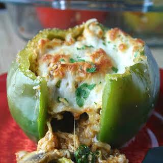 Spinach & Mushroom Stuffed Peppers.