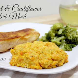 Healthy Thanksgiving Side Dish – Carrot and Cauliflower Herb Mash.