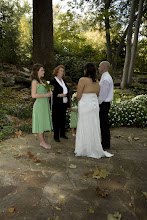 Photo: Ceremony in Progress - Old Mill Garden -Falls Park - 10/09 -  Greenville - Photo by Sarah - www.PhotoDayBliss.com ~