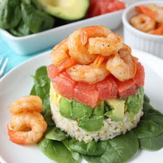 Shrimp Salad with Grapefruit and Avocado.