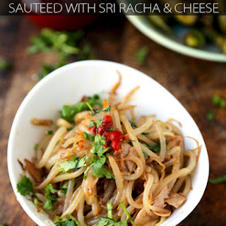 Bean Sprouts with Cheese and Sri Racha