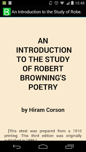 Study of Browning's Poetry