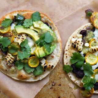 Charred Corn and Zucchini Mini Mexican Pizzas