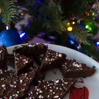 Dark Chocolate Peppermint Brownies.