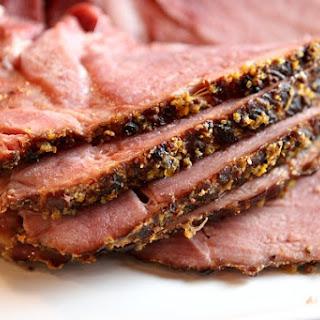 Slow Cooker Cider Ham.