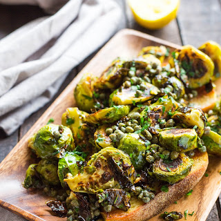 Brussels Sprouts with Anchovy Caper Butter.
