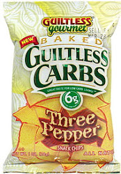 Guiltless Gourmet Baked Guiltless Carbs Snack Chips - Three Pepper