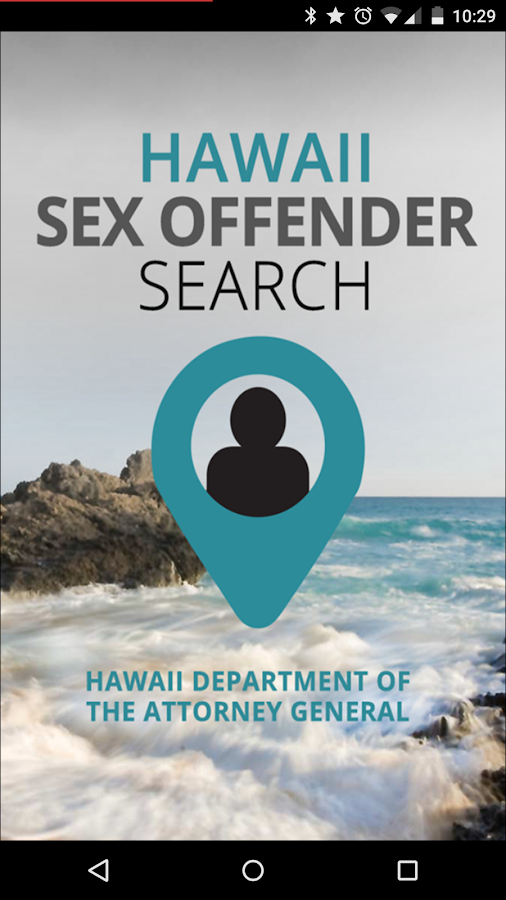 Hawaii Sex Offender Search- screenshot