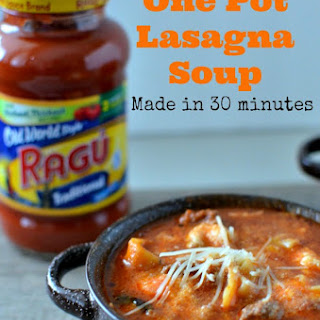 30 Minute Lasagna Soup